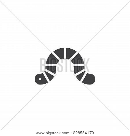 Worm Vector Icon. Filled Flat Sign For Mobile Concept And Web Design. Earthworm Simple Solid Icon. C