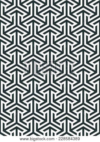 Abstract Geometric Pattern. Geometric Ornament Based On A Hexagonal Grid. Modern Simple Geometric Or