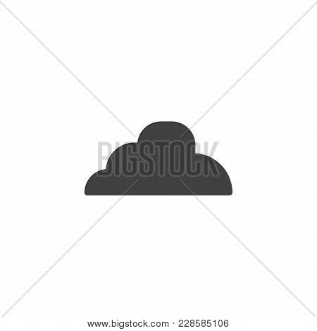 Cloud Vector Icon. Filled Flat Sign For Mobile Concept And Web Design. Cloudy Weather Simple Solid I