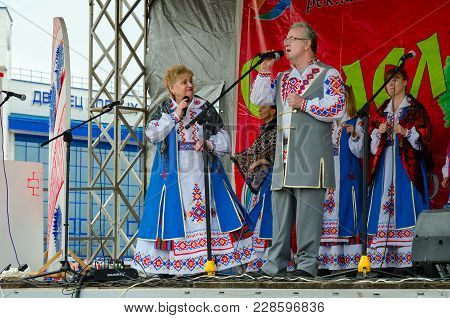 Gomel, Belarus - March 12, 2016: Performance Of Creative Collective During Shrovetide Festivities Ou