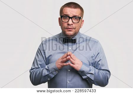 Guy With Puzzled Expression. Isolated