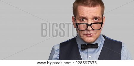Handsome Guy In Glasses And Bow Tie
