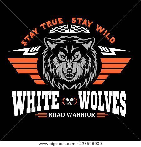 Wolf Head For Logo, American Symbol, Simple Illustration, Sport Team Emblem, Design Elements For Tsh