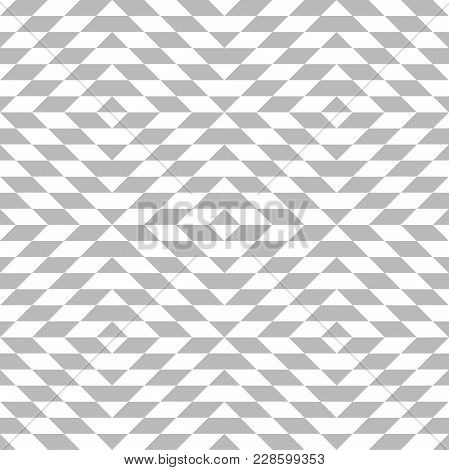 Abstract Geometric Patern With Rhombuses. A Seamless Vector Background. Grey And White Texture. Grap
