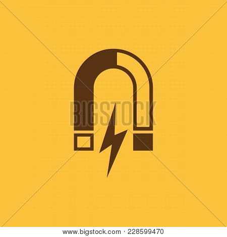 Magnet Icon. Magnetic And Attract, Physics Symbol. Flat Design. Stock - Vector Illustration
