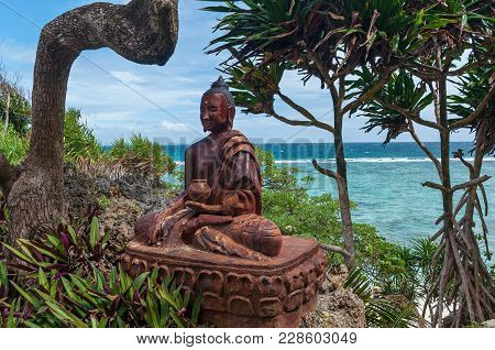 Buddha Statue Among Nature On The Coast Of The South China Sea Hong Kong. Buddha Statue