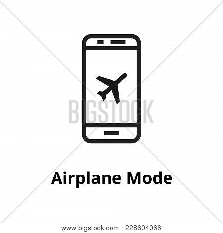 Airplane Mode Thin Line Icon. Icon For Web And User Interface
