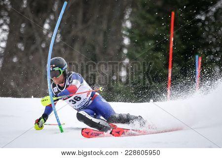 Zagreb, Croatia - January 4, 2018 : Engel Mark Of Usa Competes During The Audi Fis Alpine Ski World