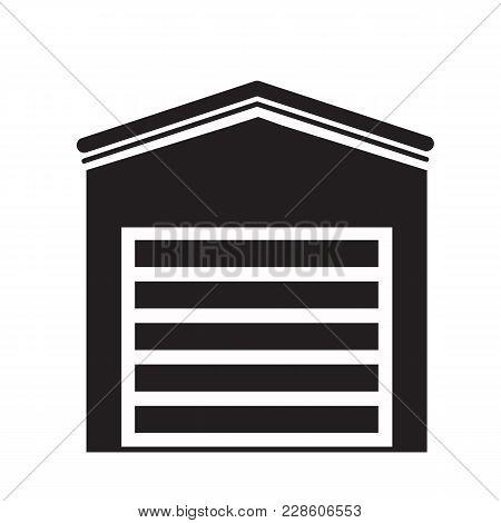 Garage Icon On White Background. Garage Sign. Flat Style. Parking Garage Symbol.