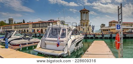 Sochi, Russia - May 14, 2016: Sochi Grand Marina.