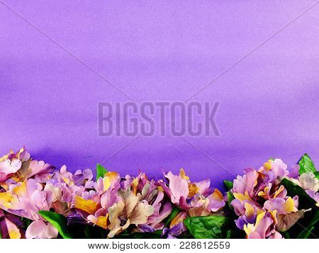 Space Copy Background With Artificial Flower Bouquet