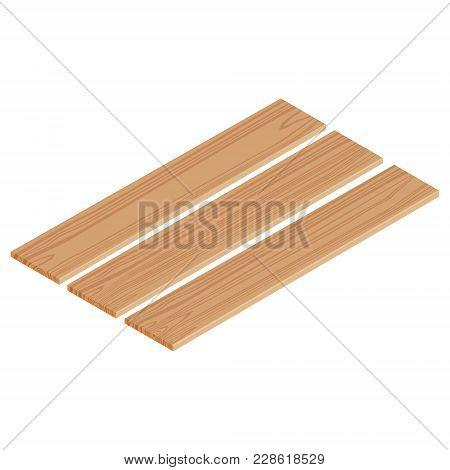 Isometric Wooden Planks