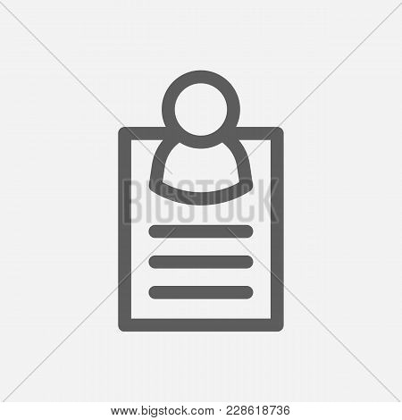 Business Card Icon Line Symbol. Isolated Vector Illustration Of  Icon Sign Concept For Your Web Site