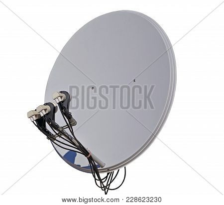Satellite Dish Antenna Isolated On White Background