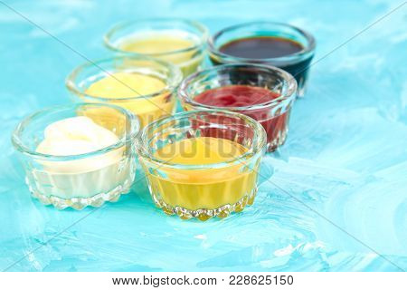 Set Of Different Sauces.