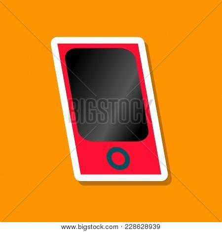 Paper Sticker On Stylish Background Mp3 Player