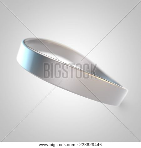 White Silicone Promo Bracelet For Hand Isolated On White Background