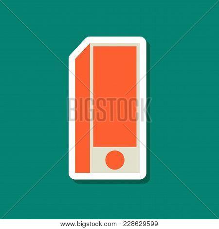 Paper Sticker On Stylish Background Subwoofer Technology, Dj