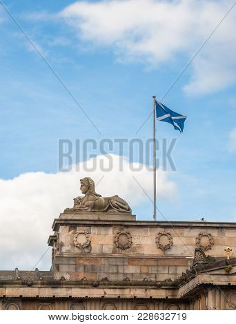 Scottish Flag Saltire On A Top National Gallery Of Scotland