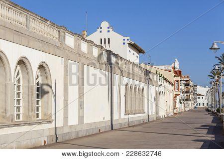 El Vendrell,spain- December 21,2017:maritime Promenade, House-museum Pau Casals, San Salvador, Marit