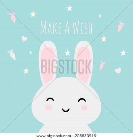 Make A Wish Kawaii Asian Bunny Usagi Vector Illustration