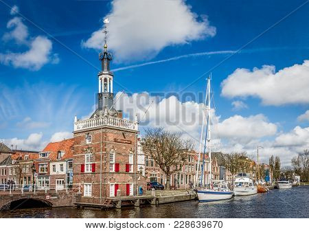 Accijnstoren In Alkmaar, Beautiful Historial Building In Alkmaar