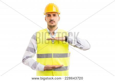 Engineer Or Architect Holding Copyspace Between Palms.