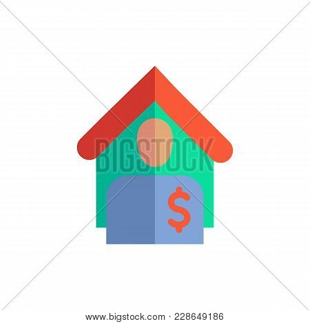 Tenant Icon Flat Symbol. Isolated Vector Illustration Of  Icon Sign Concept For Your Web Site Mobile