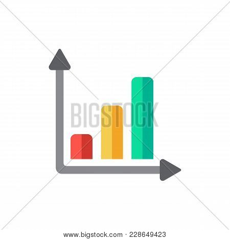 Progress Up Icon Flat Symbol. Isolated Vector Illustration Of  Icon Sign Concept For Your Web Site M