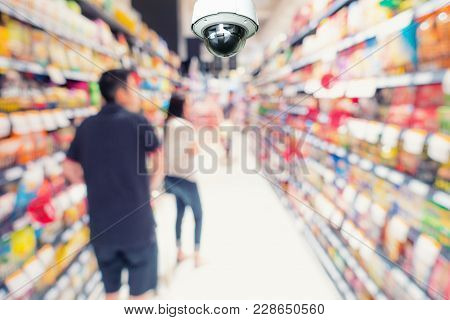 Cctv Security Camera Observation And Monitoring In Department Store