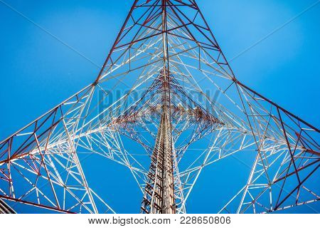 Low Angle View Of Telecommunication Tower., Technology