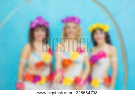 Hawaiian Girls Against The Blue Sky. There Is No Focus.