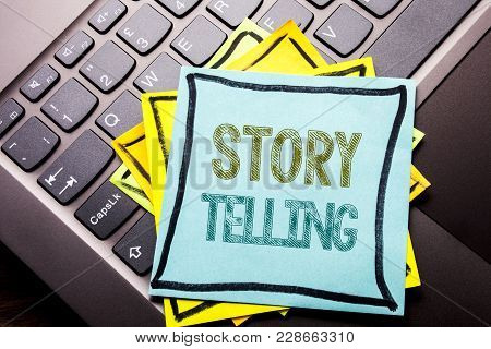 Conceptual Hand Writing Text Caption Inspiration Showing Storytelling. Business Concept For Teller S
