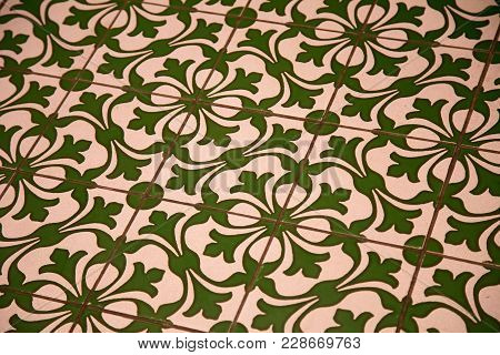 Pattern Title On A Floor. Decorative Background