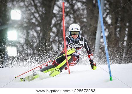Zagreb, Croatia - January 4, 2018 : Kolega Samuel Of Cro Competes During The Audi Fis Alpine Ski Wor