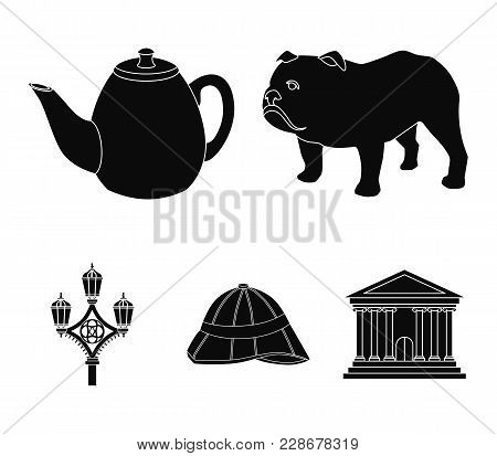 Breed Dog, Teapot, Brewer .england Country Set Collection Icons In Black Style Vector Symbol Stock I