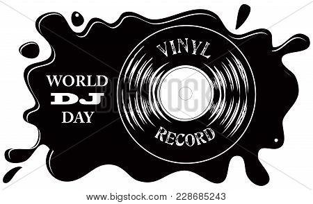 Vinyl Record Symbol - World Dj Day In March