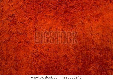 Abstract red luxury velvet background. Velvet plush soft deluxe texture poster