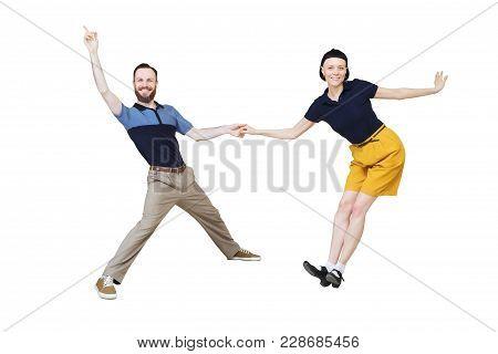 Lindy Hop Or Rock'n'roll Dance Boogie Woogie Dancers