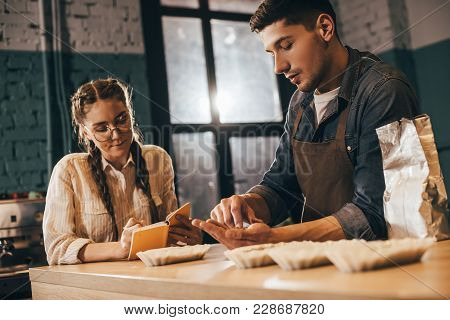 Coffee Shop Workers Checking Coffee Quality During Coffee Food Function
