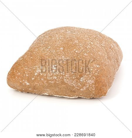 Ciabatta bread isolated on white background cut out