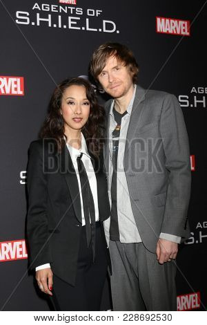 LOS ANGELES - FEB 24:  Maurissa Tancharoen, Jed Whedon at