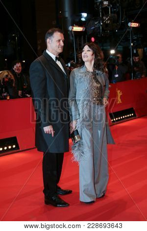 Iris Berben  and Heiko Kiesow attend the closing ceremony during the 68th Film Festival Berlin at Berlinale Palast on February 24, 2018 in Berlin, Germany.