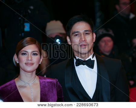 Shaina Magdayao and Piolo Pascual attend the closing ceremony during the 68th Film Festival Berlin at Berlinale Palast on February 24, 2018 in Berlin, Germany.