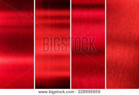 red metal textures color set