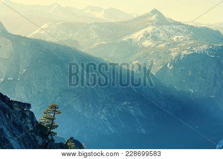 Yosemite National Park in winter season