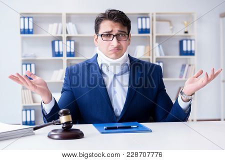 Judge in medical insurance concept