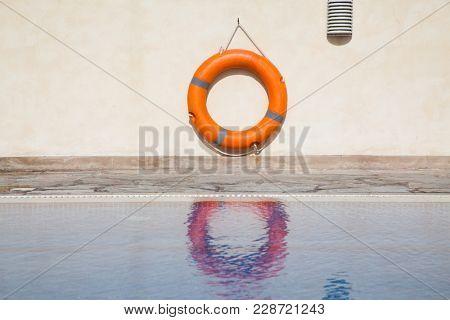 life buoy near swimming pool