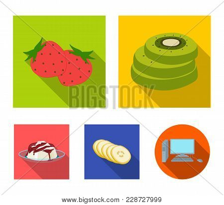 Fruits And Other Food. Food Set Collection Icons In Flat Style Vector Symbol Stock Illustration .