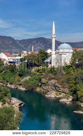 Scenic view of the historic city of Mostar, Bosnia